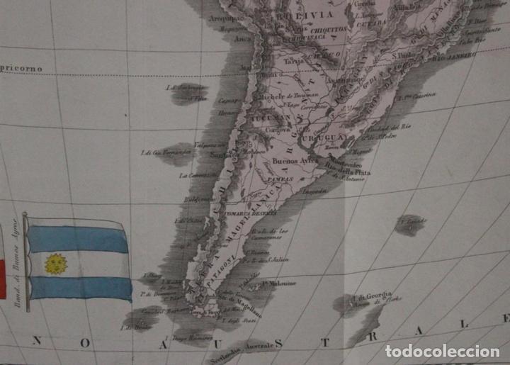 Arte: Mapa de América, 1838. Francesco Marmocchi - Foto 13 - 70455605