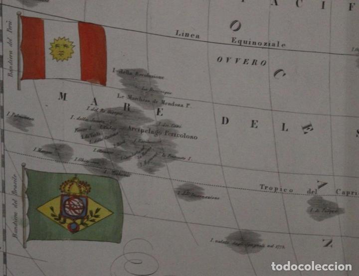 Arte: Mapa de América, 1838. Francesco Marmocchi - Foto 15 - 70455605