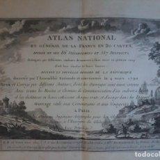 Arte: PORTADA DEL ATLAS NATIONAL ET GENERAL DE LA FRANCE EN 20 CARTES - 1790 - DESNOS - BRION -. Lote 71154109