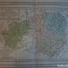 Arte: CARTE DES DEPARTEMENS DE LA CHARENTE,DE LA HAUTE VIENNE ...- DESNOS - ATLAS NATIONAL -1790. Lote 71155033