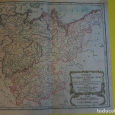 Arte: CARTE - CERCLES DE HAUTE ET BASSE SAXE 1790 - DESNOS - ATLAS NATIONAL - MAPA -. Lote 71155397