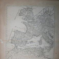 Arte: MAPA DEL OESTE DEL IMPERIO ROMANO, 1787. BONNE/DESMAREST. Lote 71420487