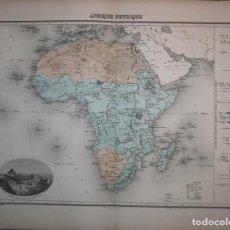 Arte: MAPA DE ÁFRICA, CIRCA 1890. MIGEON/LACOSTE. Lote 71420835