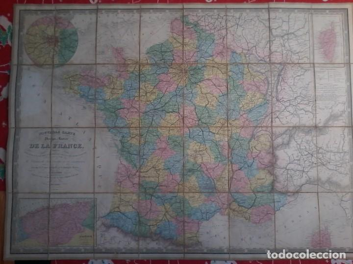 NOUVELLE CARTE PHYSIQUE ET ROUTIERE DE LA FRANCE - 1872 - MAPA - MAP -ATLAS - A.R.FREMIN - LOGEROT (Arte - Cartografía Antigua (hasta S. XIX))