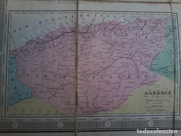 Arte: NOUVELLE CARTE PHYSIQUE ET ROUTIERE DE LA FRANCE - 1872 - MAPA - MAP -ATLAS - A.R.FREMIN - LOGEROT - Foto 4 - 71664775
