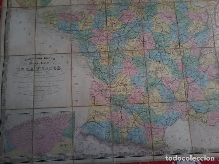 Arte: NOUVELLE CARTE PHYSIQUE ET ROUTIERE DE LA FRANCE - 1872 - MAPA - MAP -ATLAS - A.R.FREMIN - LOGEROT - Foto 6 - 71664775