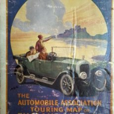 Arte: THE AUTOMOBILE ASSOCIATION TOURING MAP OF ENGLAND AND WALES - 1930 CA - MAPA - CARTE - MAP. Lote 71709563