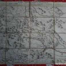 Arte: CARTE TOPOGRAPHIQUE D´ALLEMAGNE - IAEGER - 1789 CA - FEUILLE LXXX -MAPA - MAP -. Lote 71806199