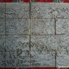 Arte: CARTE TOPOGRAPHIQUE D´ALLEMAGNE - JAEGER - 1789 CA - FEUILLE LXXIX -MAPA - MAP -. Lote 71806695