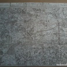 Arte: CARTE TOPOGRAPHIQUE D´ALLEMAGNE -JAEGER - 1789 CA - FEUILLE XXXII -MAPA - MAP - KARTE. Lote 71846311