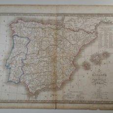 Arte: MAPA DE ESPAÑA Y PORTUGAL. ATLAS DE V. MONIN CA. 1835. Lote 72035793