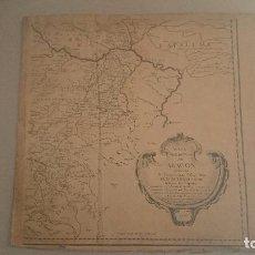 Arte: MAPA DEL REYNO DE ARAGÓN - TOMÁS LÓPEZ - 1ª EDICIÓN 1765 - 84X90 CM.. Lote 72129147