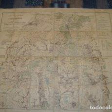 Arte: MAPA DE HAUTES-PIRENEES VALLEES DE LUTOUR,DE YERET,DEGAUBE DU MARCADAU EY DU CAMP BASQUE1933. Lote 72336947