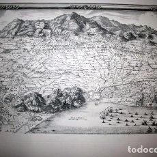 Arte: MAPA DE BARCELONA - 1698 - ASEDIO SITIO FRANCESES - DEDIÉ AU ROY 1698. Lote 177803913