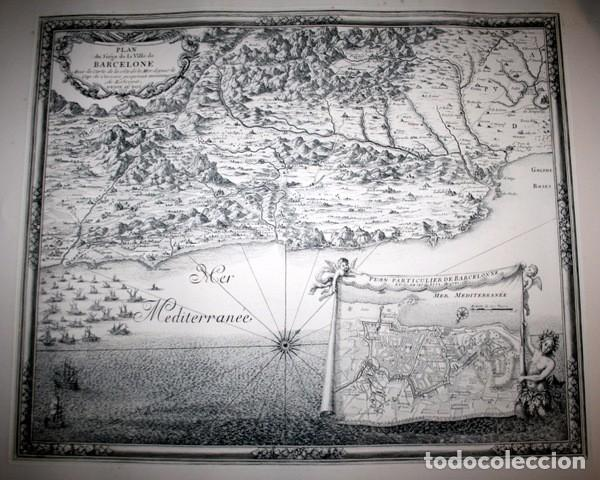 MAPA DE BARCELONA - SITIO - ASEDIO - 1698 - FRANCESES (Arte - Cartografía Antigua (hasta S. XIX))