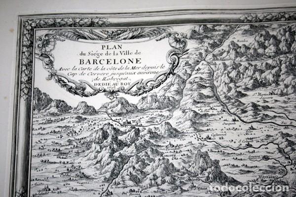 Arte: MAPA DE BARCELONA - SITIO - ASEDIO - 1698 - FRANCESES - Foto 2 - 73621455