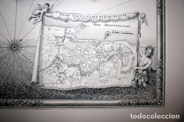 Arte: MAPA DE BARCELONA - SITIO - ASEDIO - 1698 - FRANCESES - Foto 3 - 73621455