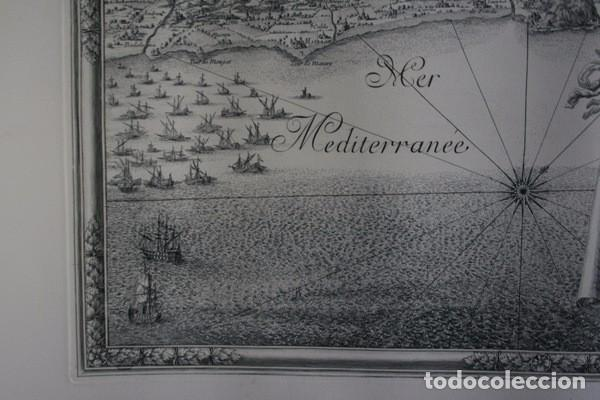 Arte: MAPA DE BARCELONA - SITIO - ASEDIO - 1698 - FRANCESES - Foto 4 - 73621455