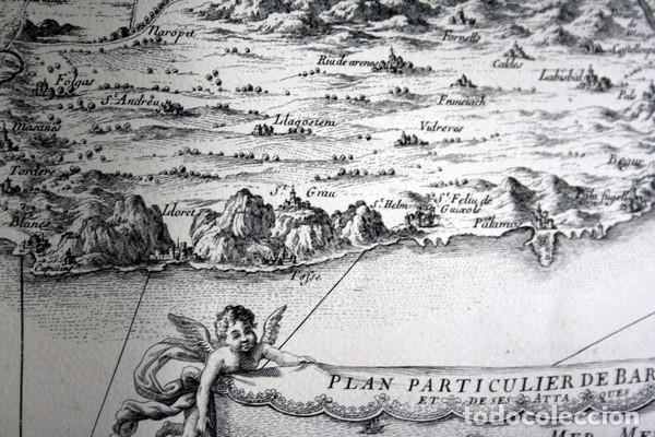Arte: MAPA DE BARCELONA - SITIO - ASEDIO - 1698 - FRANCESES - Foto 5 - 73621455