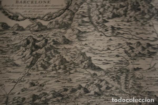 Arte: MAPA DE BARCELONA - SITIO - ASEDIO - 1698 - FRANCESES - Foto 8 - 73621455