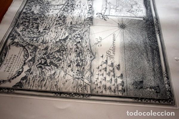 Arte: MAPA DE BARCELONA - SITIO - ASEDIO - 1698 - FRANCESES - Foto 11 - 73621455