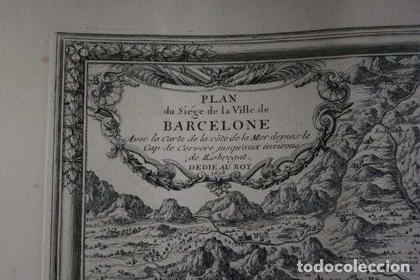 Arte: MAPA DE BARCELONA - SITIO - ASEDIO - 1698 - FRANCESES - Foto 16 - 73621455