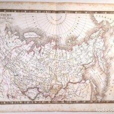 Arte: MAPA DE SIBERIA O RUSIA ASIÁTICA DEL ATLAS DE C. V. MONIN . 1837 GRABADO. Lote 73666023
