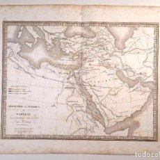 Arte: MAPA DE LA DISPERSIÓN DE LAS TRIBUS HEBREAS TRAS EL DILUVIO DEL ATLAS DE V. MONIN . 1837. Lote 73667087