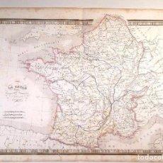 Arte: MAPA DE LA GALIA DIVIDIDA EN 17 PROVINCIAS DEL ATLAS DE V. MONIN.1837. Lote 73687935