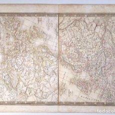 Art: MAPA DE EUROPA EN EL SIGLO X Y EN 1813 DEL ATLAS DE C.V. MONIN . 1837 GRABADO AL COBRE ORIGINAL. Lote 73762367