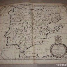 Arte - Mapa Grabado de España (1700-1712). EDWARD WELLS. A NEW MAP OF IBERIA EUROPAEA ALIAS CELTIBERIA.. - 73762591