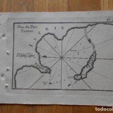 Arte: GRABADO CARTOGRAFIA MARITIMA PUERTO PARENSO , JOSEPH ROUX, 1764 ORIGINAL. Lote 74645263