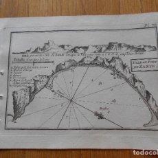Arte: GRABADO CARTOGRAFIA MARITIMA VILLA Y PUERTO DE ZANTE , JOSEPH ROUX, 1764 ORIGINAL. Lote 74645707