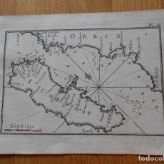 Arte: GRABADO CARTOGRAFIA MARITIMA ISLA DE CORFU GRECIA , JOSEPH ROUX, 1764 ORIGINAL. Lote 74646223