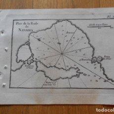 Arte: GRABADO CARTOGRAFIA MARITIMA PLAN DE LA RADE DE NAVARIN , JOSEPH ROUX, 1764 ORIGINAL. Lote 74647335