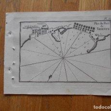 Arte: GRABADO CARTOGRAFIA MARITIMA PORT DE TRIESTE , JOSEPH ROUX, 1764 ORIGINAL. Lote 74647591