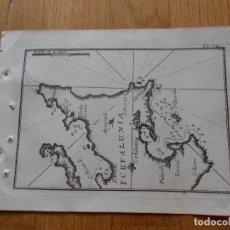 Arte: GRABADO CARTOGRAFIA MARITIMA ISLA CEFALUNIA , JOSEPH ROUX, 1764 ORIGINAL. Lote 74647751