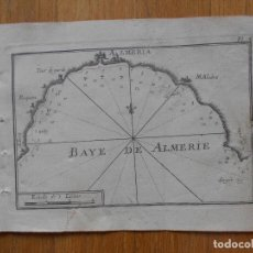 Arte: GRABADO CARTOGRAFIA MARITIMA BAHIA DE ALMERIA, JOSEPH ROUX, 1764 ORIGINAL. Lote 74647919
