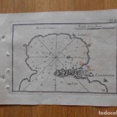 Arte: GRABADO CARTOGRAFIA MARITIMA FORTIN SARAGOSA, CERDEÑA O NAPOLES, JOSEPH ROUX, 1764 ORIGINAL. Lote 74648071