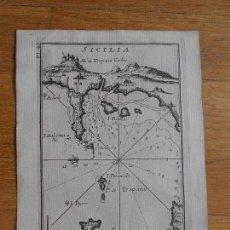Arte: GRABADO CARTOGRAFIA MARITIMA SICILIA, JOSEPH ROUX, 1764 ORIGINAL. Lote 74648255