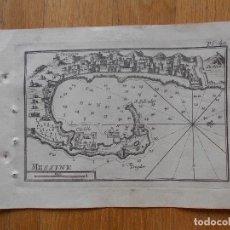 Arte: GRABADO CARTOGRAFIA MESSINA , JOSEPH ROUX, 1764 ORIGINAL. Lote 74648803