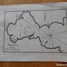 Arte: GRABADO CARTOGRAFIA MARITIMA PORT LION, PORT ATENAS , JOSEPH ROUX, 1764 ORIGINAL. Lote 74649071