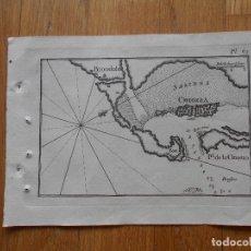 Arte: GRABADO CARTOGRAFIA MARITIMA CHIOZZA BRONDOLO, JOSEPH ROUX, 1764 ORIGINAL. Lote 74649423