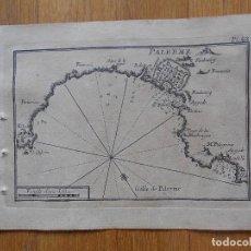 Arte: GRABADO CARTOGRAFIA MARITIMA PORT PALERME, JOSEPH ROUX, 1764 ORIGINAL. Lote 74649783