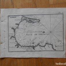 Arte: GRABADO CARTOGRAFIA MARITIMA BAHIA DE GIBRALTAR , JOSEPH ROUX, 1764 ORIGINAL. Lote 74650055