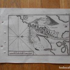 Arte: GRABADO CARTOGRAFIA MARITIMA MONTE CETTE , JOSEPH ROUX, 1764 ORIGINAL. Lote 74650171