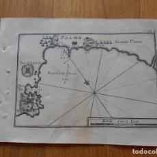 Arte: GRABADO CARTOGRAFIA MARITIMA PALMA, JOSEPH ROUX, 1764 ORIGINAL. Lote 74650387