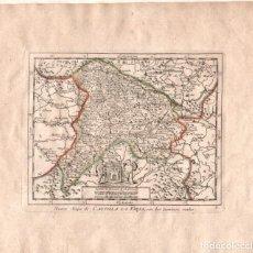 Art: MAPA DE CASTILLA LA VIEJA CON LOS CAMINOS REALES. AÑO 1756. Lote 75517063