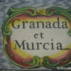 Arte: MAPA GRANADA, MURCIA...... , ORIGINAL, BERTIUS-HONDIUS, AMSTERDAM, 1630, Y COLOREADO. Lote 50063874