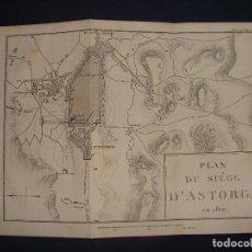 Arte: PLANO DEL SITIO DE ASTORGA 1810. GRABADO EN 1820, BUEN PAPEL. 20X28 CM. GUERRA INDEPENDENCIA.. Lote 78150405